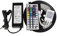 Светодиодный комплект лента RGB 5050 300шт/5м IP20 + контроллер 44кнопки + блок питания 5A