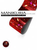 Голографическая фольга EMI «Красная Крупные кристаллы»