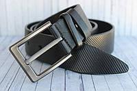 Джинсовый ремень мужской кожаный черный оригинальный