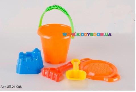 Песочный набор Башенка маленький Toy Plast ИП.21.008