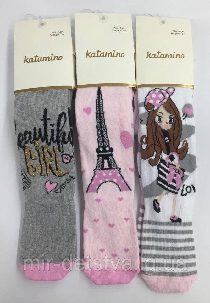 Нарядные колготки для девочек TM Katamino оптом, Турция р.1-2 (86-92 см) ост.1 шт белый