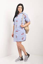 Модное платье рубашка 46-54 р-ры