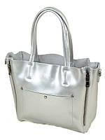 Сумка Женская Классическая кожа 8650 silver.Купить  кожаную женскую сумку, фото 1