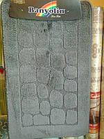 """Набор ковриков в ванную комнату """"Banyolin"""", серый, производитель Турция"""