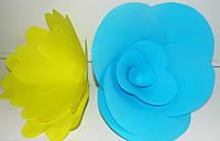 Бумажные цветы из дизайнерской цветной бумаги 15 см