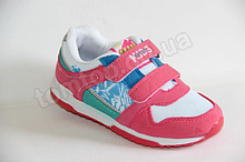 Кросівки на дівчинку 26,28 р коралові арт 9811-9