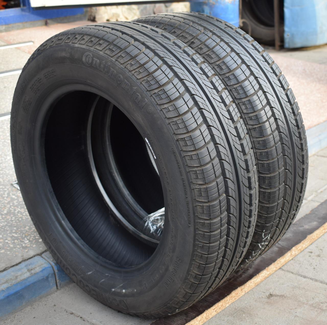 Летние шины б/у 185/65 R15 Continental, пара, 8 мм