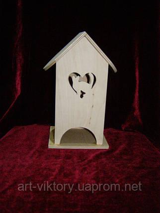 Чайный домик кошка в сердце (10 х 10 х 23 см), фото 2