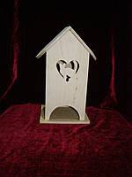 Чайный домик кошка в сердце (10 х 10 х 23 см)