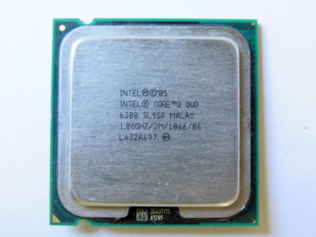 Процессор Intel Core 2 Duo E6300 1.86GHz/2M/1066 (SL9SA) s775, tray