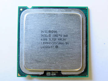 Процессор Intel Core 2 Duo E6300 1.86GHz/2M/1066 (SL9SA) s775, tray