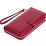 Женский бордовый кошелек, фото 2