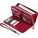 Женский бордовый кошелек, фото 3