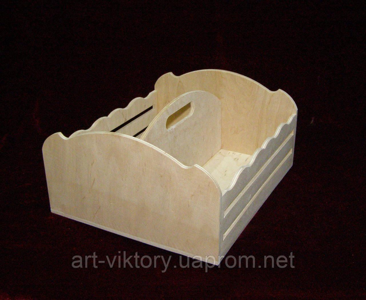 Короб с отсеками, спецовница (27,5 х 24 х 13,5 см)