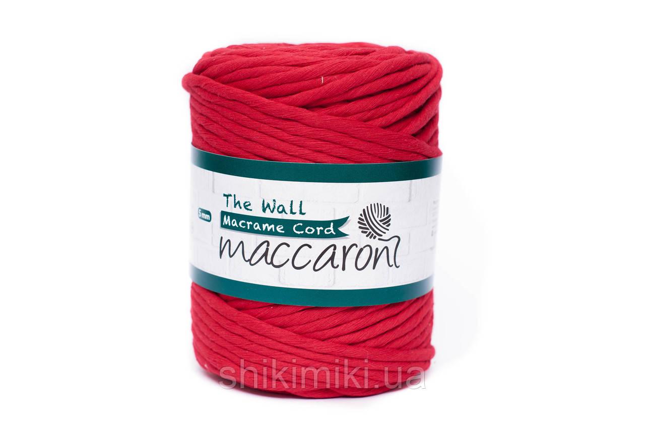 Эко шнур Macrame Cord 5 mm, цвет Красный
