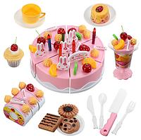 Большой празничный торт Doris с аксессуарамы 54 ел. розовый