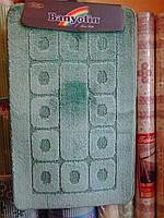 """Набор ковриков в ванную комнату """"Banyolin"""", бирюза, производитель Турция"""