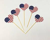 Набор Топперы для бургеров или сладостей для вечеринки в Американском стиле (5 шт/уп)