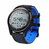 Смарт часы Smart Watch F3 синие для занятий спортом и туризма
