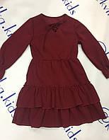 Платье для девочки цвет бордо