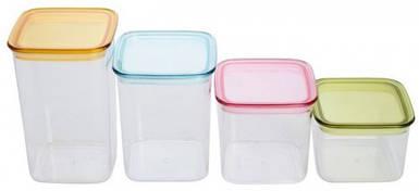Контейнеры пластиковые для сыпучих (набор 4 шт) EM2854