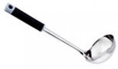 Половник нержавеющий с прорезиненой ручкой V 100 мл L 280 мм (шт) EM9333