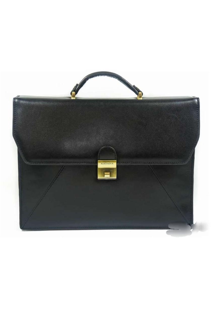 Портфель кожаный katana мужской чёрный 63060