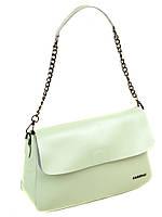 Сумка Женская Классическая кожа  8605  light-green.Купить  кожаную женскую сумку, фото 1