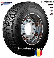 Шина Вантажна 315/80 R22,5 M+S/3PMSF M+S CROSS CONTROL D провідна вісь BFGoodrich (Michelin) Румунія