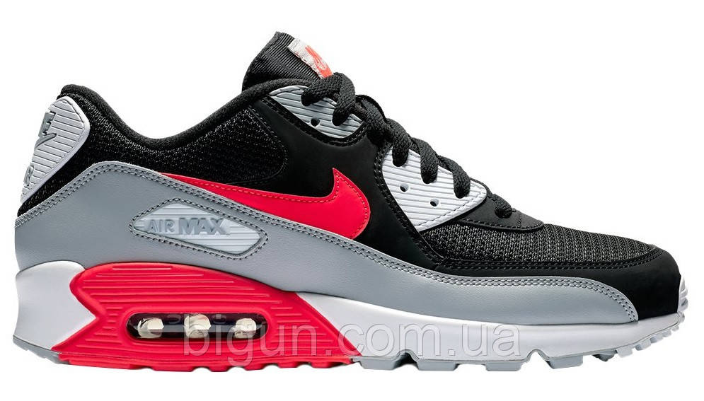 14ff6d51 Мужские кроссовки Nike Air Max 90 Essential Black Grey Red (найк аир макс 90 ,