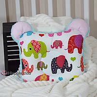 Ортопедическая подушка для новорожденных их хлопка и плюша (РО-005714)