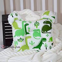 Ортопедическая подушка для новорожденных их хлопка и плюша (РО-005704)