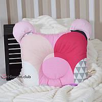 Ортопедическая подушка для новорожденных их хлопка и плюша (РО-005731)