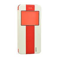 Чехол-книжка Remax with window iPhone 6 Plus White/Red