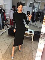 Женское трикотажное длинное платье , фото 1
