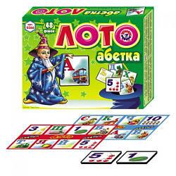 "Лото ""Абетка"", 48 фишек (укр)"