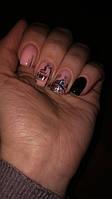 """Дизайн ногтей с гель краской """"Паутинка"""""""