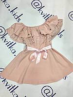 Платье для девочки размеры 4-10 лет