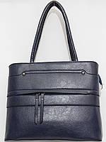 Сумка с наружным карманом стиль темно-синяя