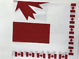 Бавовняна бандана біла з червоним, фото 2
