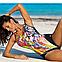 Сдельный купальник, украшен рисунком цветов, MARKO M 554 CASSANDRA. Есть большие размеры, фото 2