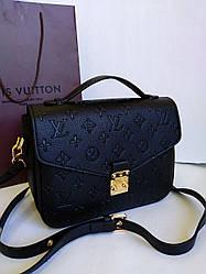 Женская сумка клатч Louis Vuitton Pochette Metis черного цвета