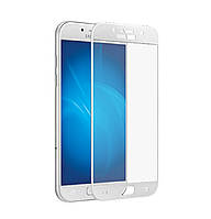 Защитное стекло 3D Full Cover для Samsung A5 (2017) SM-A520 White (Screen Protector 0,3 мм)