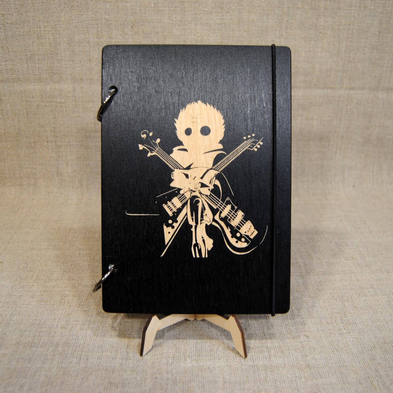 Скетчбук Furi Kuri . Блокнот с деревянной обложкой Фури кури.