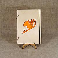 Скетчбук Fairy Tail. Блокнот с деревянной обложкой., фото 1