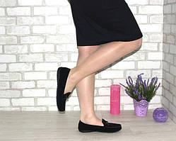 Чёрные женские мокасины, балетки