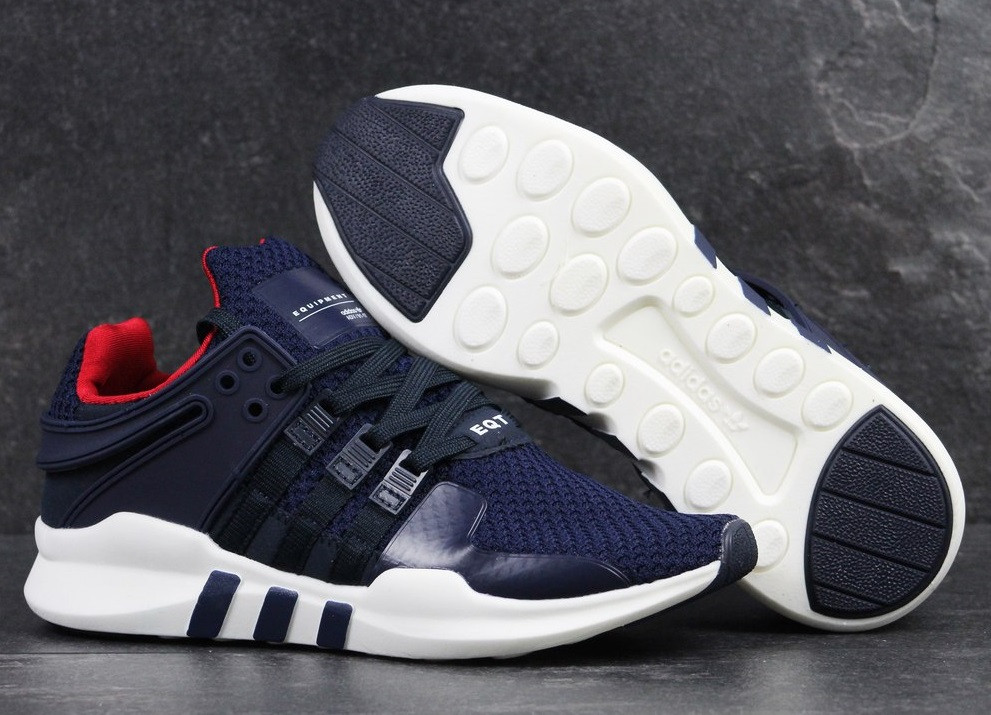 a9c8c5ec5 Кроссовки Adidas Equipment (темно-синие с Белой Подошвой) — в ...