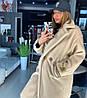 Женское пальто оверсайз из альпаки на весну-осень 18PA170
