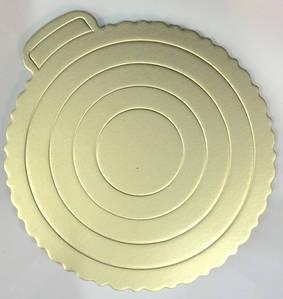 Подложка для Торта Золотистая Ø260мм  ЕМ0290