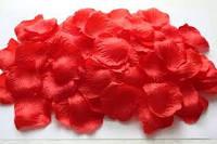 Искусственные лепестки роз, красные